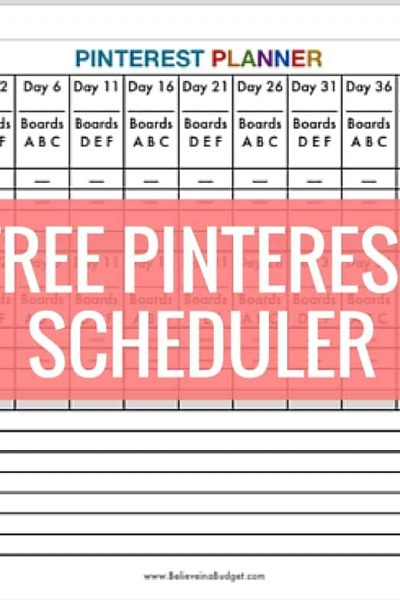 Download your FREE Pinterest pin scheduler