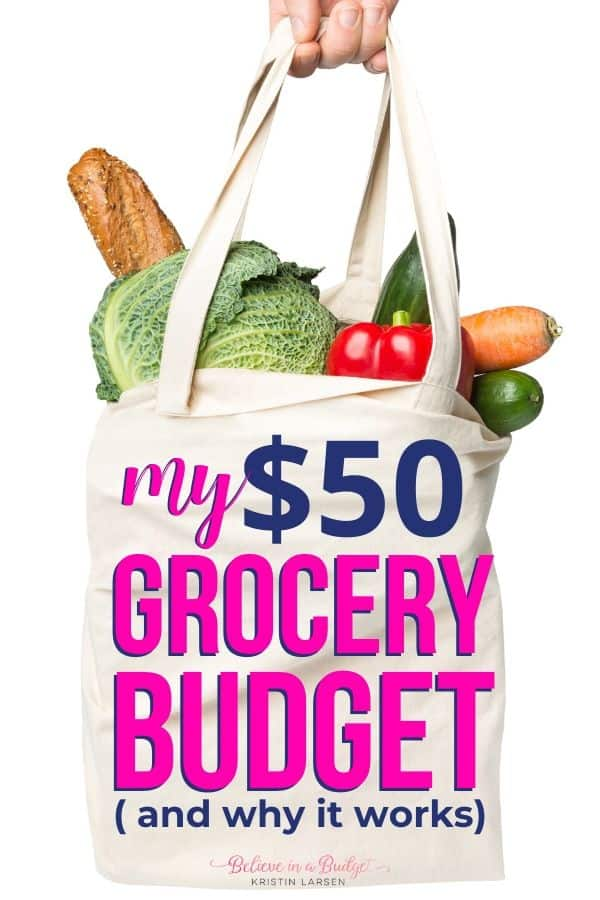 Here is my $50 grocery budget so I can save money on groceries.