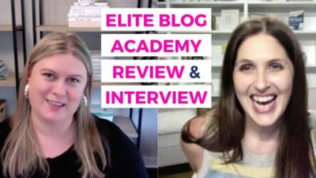 This video is a review of Elite Blog Academy and an interview with Ruth Soukup, creator or EBA.