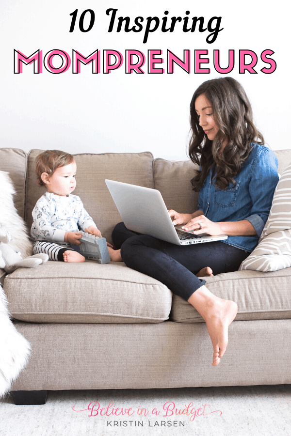 Meet ten successful moms with thriving online businesses. Learn how these ladies balance family with business as business owners and mompreneurs. #SAHM #businesswoman #bosslady