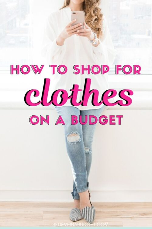 When you shop for clothes on a budget, you don't have to sacrifice quality. These shopping tips will help you save money. #savemoney #shopping
